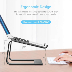Image 2 - Jelly Comb Laptop Stand Aluminum Holder for Laptop Notebook PC Computer Ergonomic Bracket Metal Cooling Stand Heat Dissipation