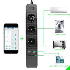 Image 3 - Wifi Power Strip Surge Protector Eu Stopcontacten Timer Voice Afstandsbediening Werkt Met Echo Alexa Google Thuis