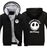 The Nightmare Before Christmas Jack Skellington Fleece Sweatshirt Coat Hoodie