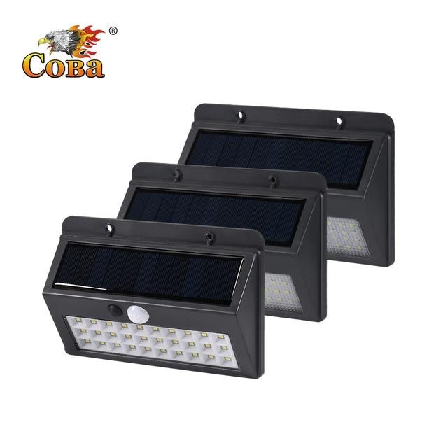 Coba שמש אור בחוץ led שמש מנורת 30/45/60 cob חירום אור בחוץ עמיד למים קיר אוטומטי אור סופר בהיר