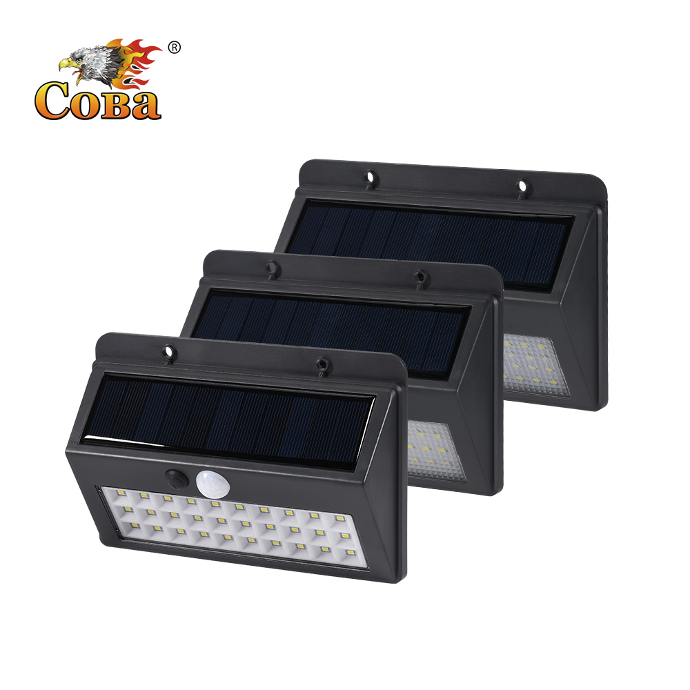Coba Solar Light Outdoors Led Solar Lamp 30/45/60 Cob Emergency Light Outside Waterproof Wall Automatic Light Super Bright