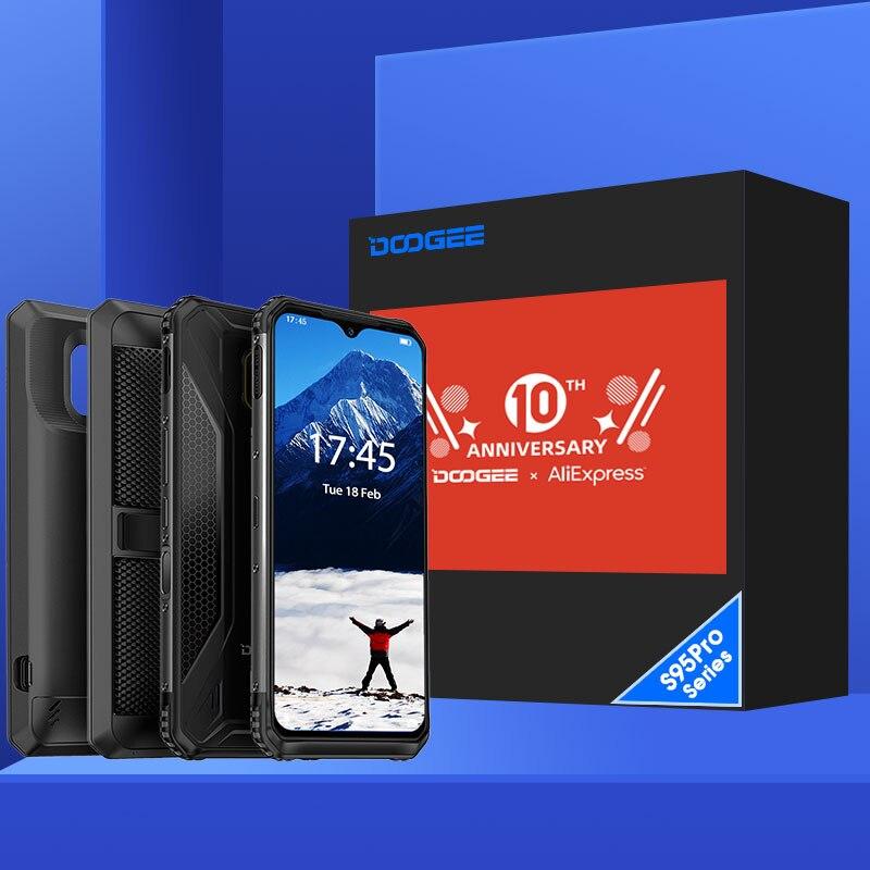 Ip68/ip69k doogee s95 pro modular áspero telefone móvel 6.3 polegada display 5150 mah helio p90 octa núcleo 8 gb 128 gb 48mp cam android 9