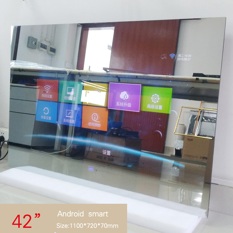 Tv-Internet-Mirror Glass-Panel Shower-Room 42inch Android Waterproof Full-Hd Cast-Tv title=