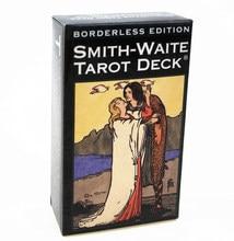 Tam İngilizce kenarlıksız baskı Smith-Waite Tarot kartları GamePortable arkadaş parti oyun tahtası oyun kartları 4P