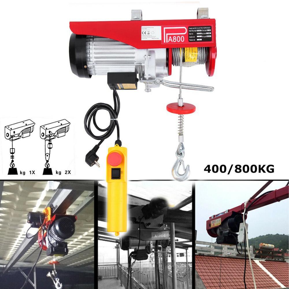 400/800KG Scaffold Electric Hoist Household Crane Cable Hoist Electric Winch Lifting Motor Mounted Workshop Garage Shop