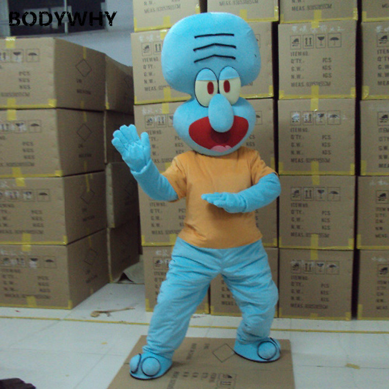 Squidward Tentacles Mascot Costume Suits Cosplay Party Game Outfits Clothing Advertising Carnival Halloween Easter Adults