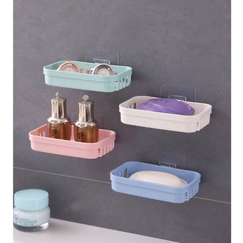 Bathroom Shower Soap Box Dish Storage Plate Case Soap Holder Tray Bath Accessories Box Shelf Basket Stand Wall Dishes Kitchen leyden new brass oil rubbed bronze soap dishes ceramic soap basket wall mounted shower soap dish holder bathroom accessories