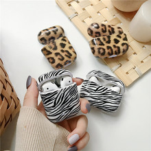 Luxury Leopard print Case For Apple Airpods Pro Cover Cute Zebra print Earphone Hard Cover For Air pods 2 1 Headphones Case Box