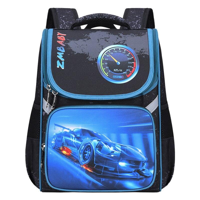 Детский рюкзак для мальчиков, автомобильный ранец, детский ортопедический рюкзак с мультяшным рисунком, школьные водонепроницаемые сумки для мальчиков, два размера|Школьные ранцы| | АлиЭкспресс
