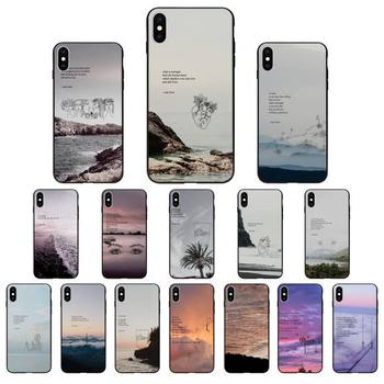 Yinuoda Rupi Kaur Beach Sea Mountain Lines Art Poetry Phone Case for iphone 11 Pro Max X XS MAX 6 6s 7 8 Plus 5 5S 5SE XR SE2020 image