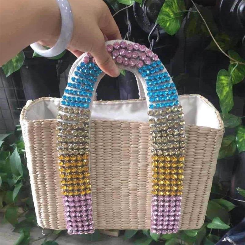 O novo saco de palha diamante mão