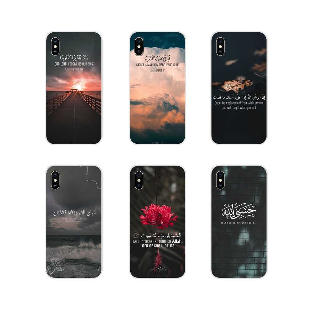 quran islamic quotes muslim Accessories Phone Shell Covers For Xiaomi Redmi Note 3 4 5 6 7 8 Pro Mi Max Mix 2 3 2S Pocophone F1