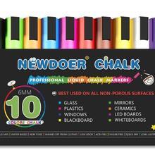 Marker-Pen-Set Liquid-Chalk Chalkboards Whiteboa 10-Color Neon for Bistro Windows Glass