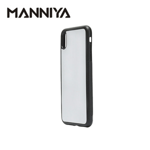 Image 4 - MANNIYA 2D Sublimation Blank rubber phone Case for iphone XS Max with Aluminum Inserts and glue 10pcs/lot