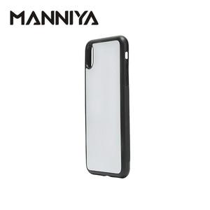 Image 4 - MANNIYA 2D סובלימציה ריק גומי טלפון מקרה עבור iphone XS מקסימום עם אלומיניום מוסיף ודבק 10 יח\חבילה