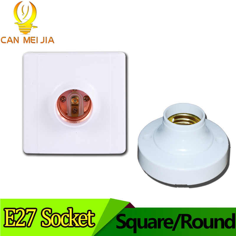 E27 Led Light Bulb Holder Round Square