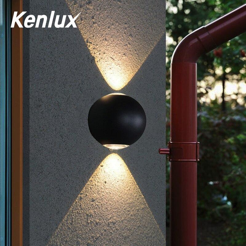 Lámpara LED de pared para interior IP65, interior y exterior impermeable para luz de pared de aluminio, luz LED para jardín y porche montada en superficie