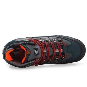 Image 3 - Zapatos de Montañismo hombre impermeable y antideslizante deportes resistente al desgaste cuero masculino Permeable ocio turístico y fácil montaña