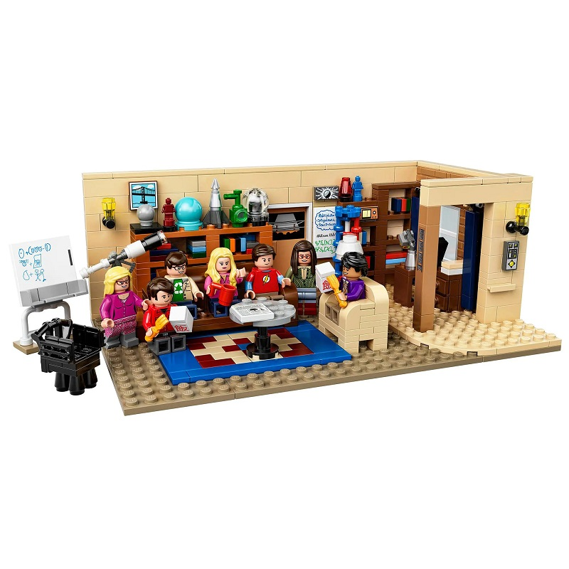 Ideas The 21302 Big Bang Theory Living Room TBBT MOC Building Blocks Friends Central Perk Collection Toys Kids Child Adult Gift image