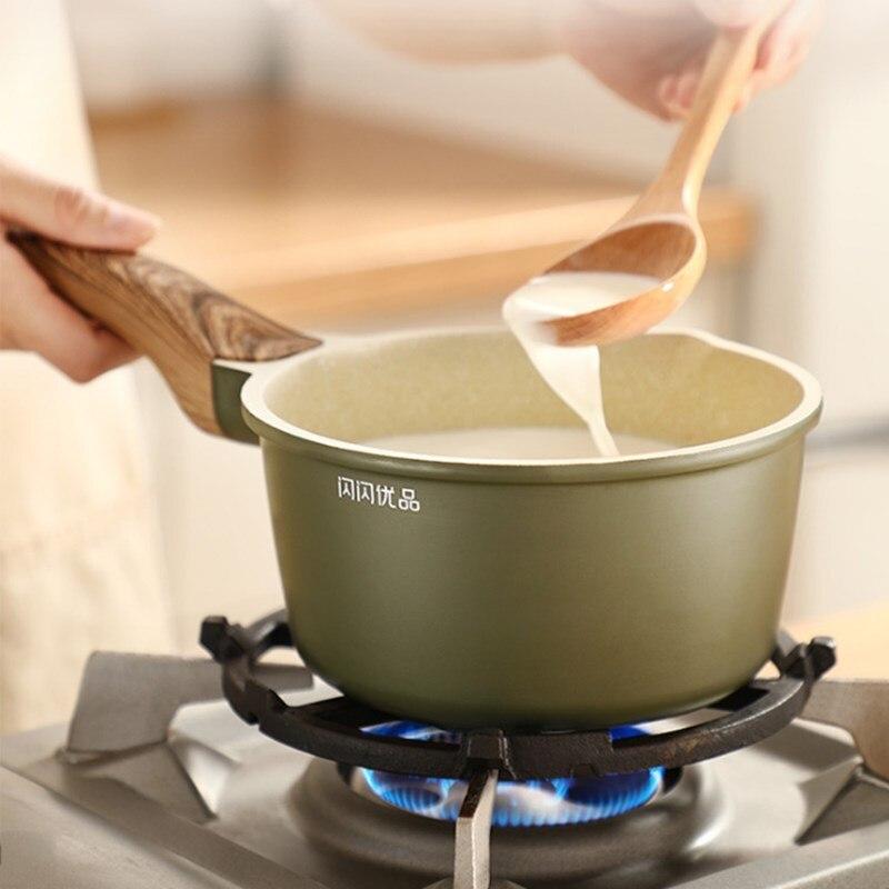 Maifanshi antiadhésif petit Pot de lait maison bébé complément alimentaire Pot de lait bouilli Pot de lait chaud multi-fonction fournitures de cuisine