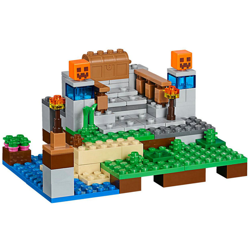 The Crafting Box 2.0 Building Block With Steve Action Figures Compatible LegoINGlys MinecraftINGlys Sets Toys For Children 21135 3