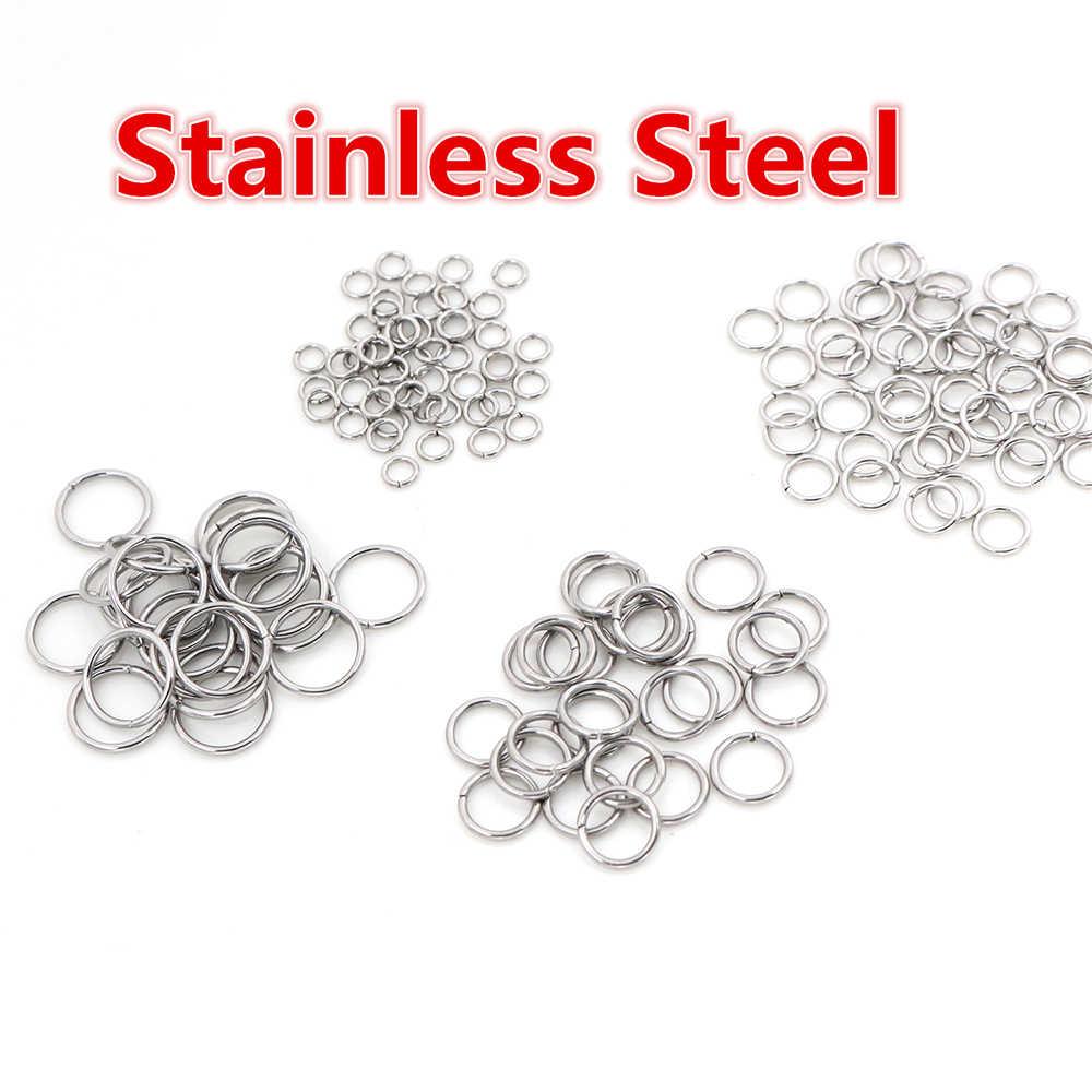 200 teile/los 3/4/5/6/7/8/10mm Metall DIY Schmuck Erkenntnisse open Single Loops Jump Ringe & Split Ring für schmuck machen