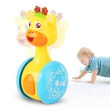 Детские погремушки музыкальная игрушка мобильные телефоны Жираф тумблер детские игрушки для детей мультфильм музыкальный колокол коляска