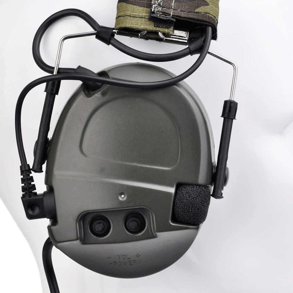 الرياضة في الهواء الطلق طوي الإلكترونية اطلاق النار Z-tac سماعات نشط مكافحة نوس توسيع التكتيكية حماية السمع