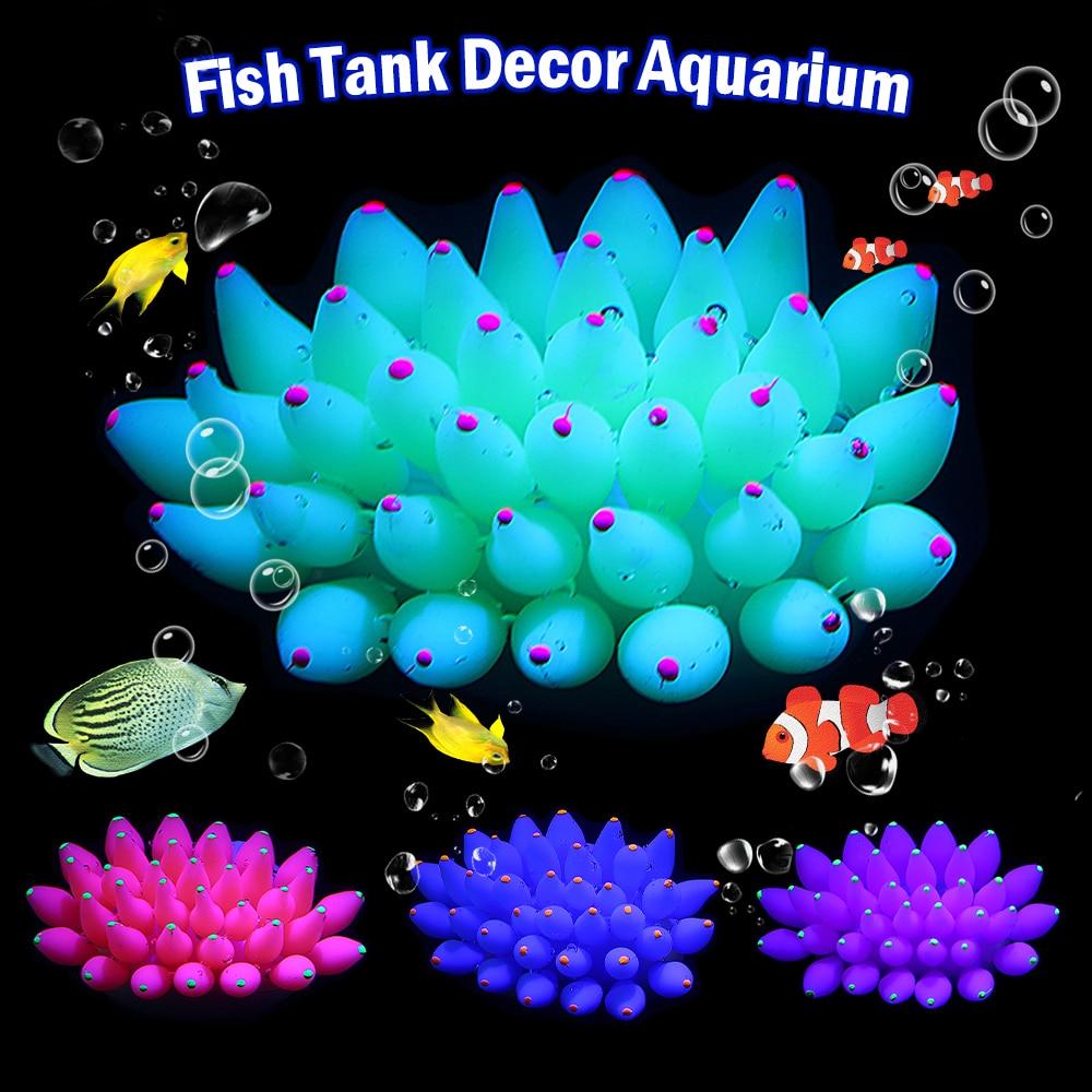 13*8*6cm High Quality Artificial  Silicone Sea Anemone Vivid Fish Tank decoration Aquarium Ornament D40