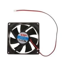 12V 2-Pin 80x80x25mm PC Computer CPU System Heatsink Brushless Cooling Fan 8025 X6HB