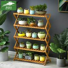 Foldable Flower Pot Display Rack Corner Storage Multi-layer Holder Shelves Room Organizer for Terrace/Balcony Decoration(China)