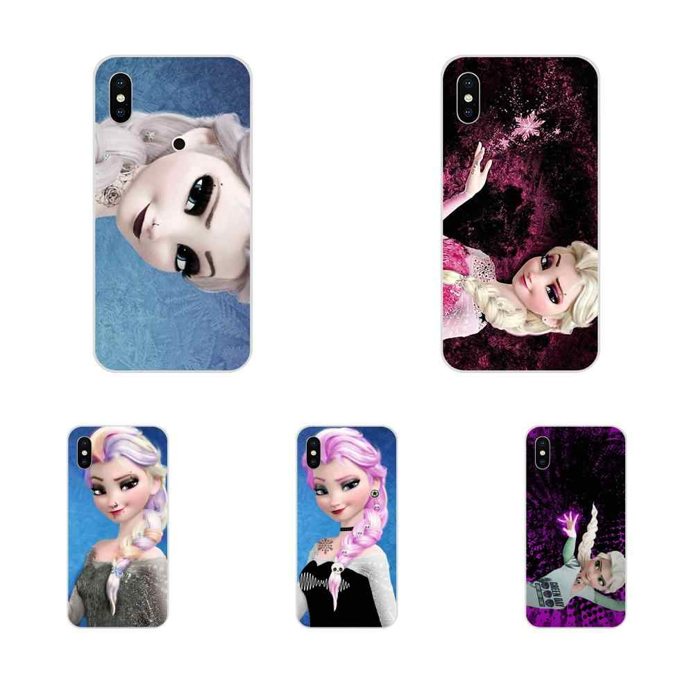 Punk Elsa Anna For LG G2 G3 G4 G5 G6 G7 K4 K7 K8 K10 K12 K40 Mini Plus Stylus ThinQ 2016 2017 2018 Soft Luxury