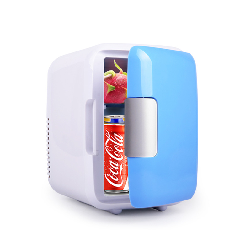 Small Refrigerator Mini Fridge Portable Car Outdoor Home 4L Dormitory Gift Dual-Purpose title=