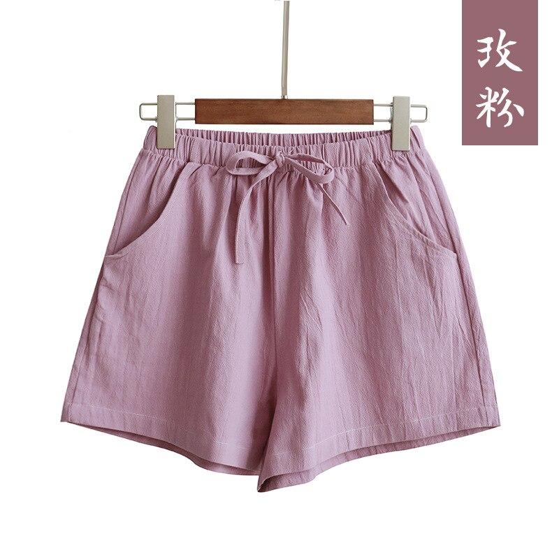 New Hot Summer Casual Cotton Linen Shorts Women Plus Size High Waist Shorts Fashion Short Pants  Streetwear Women's Shorts 11