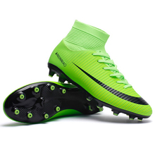 Shoes Football-Boots Soccer Cleats Training-Sneakers Outdoor Kids Boy TF/FG Ankle-Top
