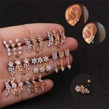20G Stainless Steel CZ Flower Zircon Ear Cartilage Helix Piercing Jewelry Rook Lobe Stud Earring Stainless.jpg 350x350 - 20G Stainless Steel CZ Flower Zircon Ear Cartilage Helix Piercing Jewelry Rook Lobe Stud Earring Stainless Steel Zircon Earrings