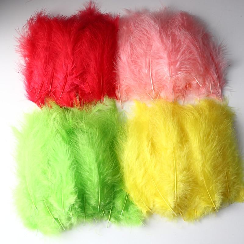 50 шт. пуховое перо, гусиное пуховое перо, цветные поделки, перо, аксессуары для одежды, подарки, свадебные материалы для украшения 9 см-15 см