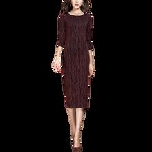 Vestido de punto de manga de tres cuartos, informal, novedad, Primavera, 2021