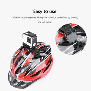 Image 4 - Vamson עבור ללכת פרו גיבור 7/6/5/8 מתכוונן אופני קסדת ראש רצועת חגורת הר בעל מתאם עבור Xiaomi יי 4K אוסמו פעולה VP201X