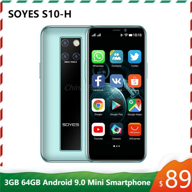Original Neue SOYES S10-H Mini Handy 4G LTE 3G 64G MTK6379 Android 9,0 Hohe-ende 3.5 kleine Smartphone Telefone Celulares