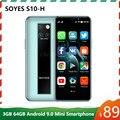 Оригинальный Новый SOYES S10-H мини мобильный телефон 4 аппарат не привязан к оператору сотовой связи 3G 64G MTK6379 Android 9,0 High-end 3,5 ''маленький смартфон ...