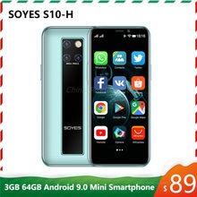 Original Neue SOYES S10-H Mini Handy 4G LTE 3G 64G MTK6379 Android 9,0 Hohe-ende 3.5 ''kleine Smartphone Telefone Celulares