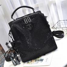 Блестящий черный мягкий кожаный милый медвежонок кулон рюкзак