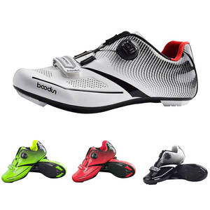 Breathable Pro Self-Locking Cycling Shoes Road Bike Bicycle Shoes Ultralight Athletic Racing Sneakers Zapatos Ciclismo Men Women