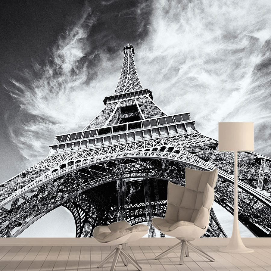 City 3d Wallpaper Mural Wallpapers For Living Room Wall Paper Papers Home Decor Self Adhesive Walls Murals Rolls Eiffel Tower
