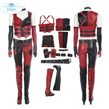 Harley Quinn Cosplay Halloween Costumes For Women Game Batman: Arkham City The Joker Outfit Full Set Custom Made(China)