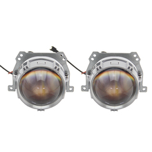 SHUOKE Mini Bi-LED Projector Lens Light 12V 3A 36W 6000K 5500LM 50000h Life 2 PCS Bi Headlight Drive in Fans Design