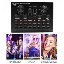 V8s профессиональный конденсаторный караоке микрофон аудио usb