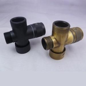 Image 4 - Separador de agua de bronce envejecido, grifo de ducha, válvula de agua de tres vías, separador de agua, boquilla de pulverización, interruptor, convertidor de una o dos juntas