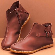 2019 new autumn Casual flat Round toe  womens shoes chaussure luxury PU leather zapatos de mujer wxz297